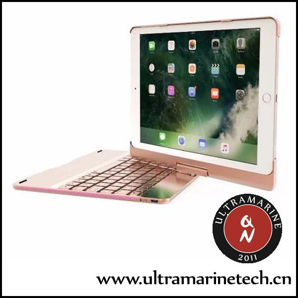 Rotating Stand Aluminum Multi-angle Wireless Bluetooth For <strong>iPad</strong> Pro 10.5 Case Keyboard