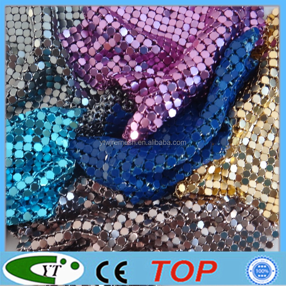 Colorful and Flexible metal mesh fabric