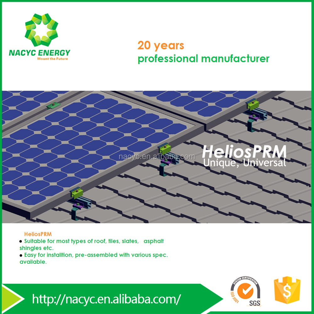 One-for-all Photovoltaic Solar Roof Hook Mounting Tile Roof