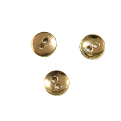 // trousers decoration small size metal 2 holes button // custom logo metal button // BK-BUT562