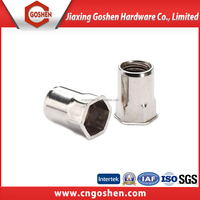 stainless steel 304 small countersunk head half hex rivet nut
