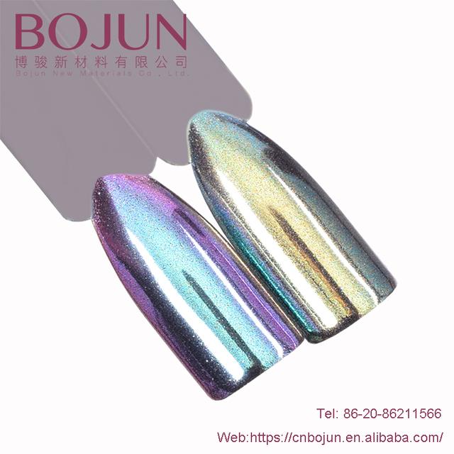 Wholesale nail powder chrome chameleon pigment chrome powder for cosmetic makeup pigments