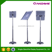 Best price A3,A4 aluminum poster stand,menu stand