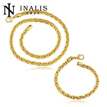 Popular Shiny European Design Gold Plated Women's Wholesale Set Jewelry Supplies