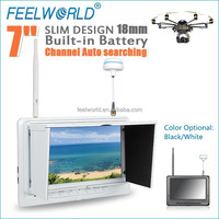 FEELWORLD ultra-thin battery powered 7 inch 5.8GHz lcd transmitter hdmi monitor mini fpv camera for rc airplanes