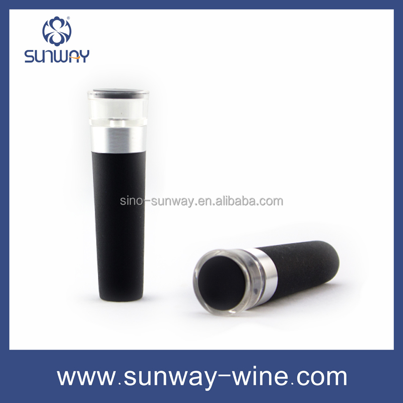 Personalized silicone wine stopper aluminium ring wine stopper parts craft wine stopper blank