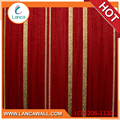 Colour striped wallpaper living room pvc wall paper