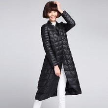 2017 Wholesale Women Ultralight Long Pattern Duck Down Jackets For Winter