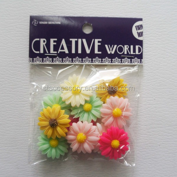 DIY resin flower bead or sticker enamel flowers for jewelry making