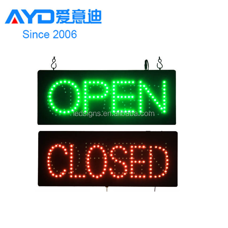 Hidly Animated battery powered open <strong>sign</strong> led open closed <strong>sign</strong>(HSO0496)
