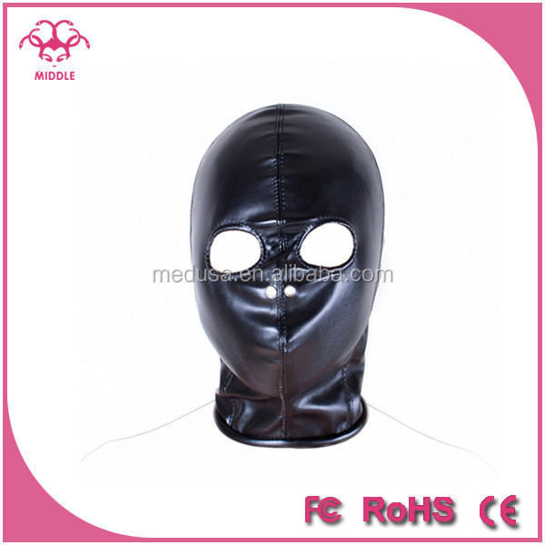 Zipper Adult Sex Toys Seeable Breathable Hood BDSM Bondage Slave Head Restraint