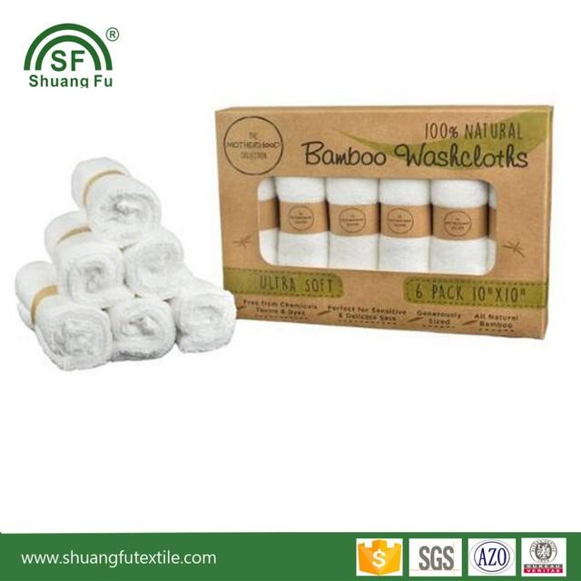 Organic Bamboo Washcloths Baby Fiber Face Towel ,Baby Wipes