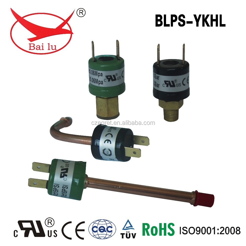 pump pressure switch for electric equipment