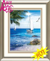 BLUE SKY AND THE SEA HOT OIL PAINTING PHOTO IMAGE WALL DIY CRYSTAL DIAMOND HOME DECOR OIL PAINTING