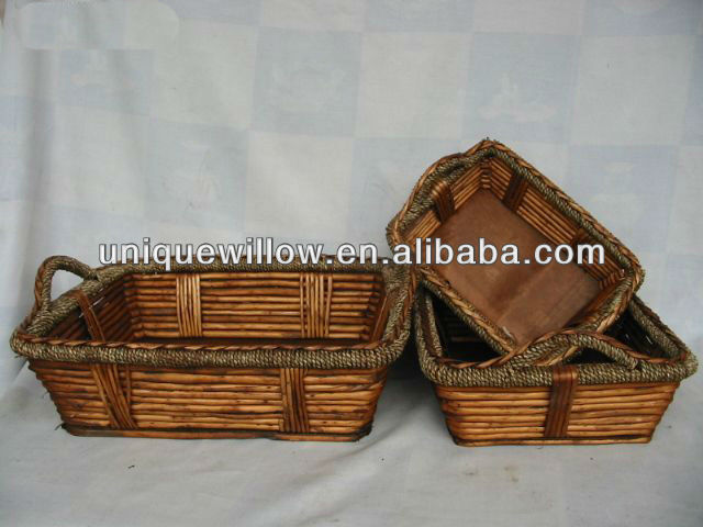 Wicker Woven Basket,Antique Wicker Basket,Willow Basket with Carrying Handles FG-232