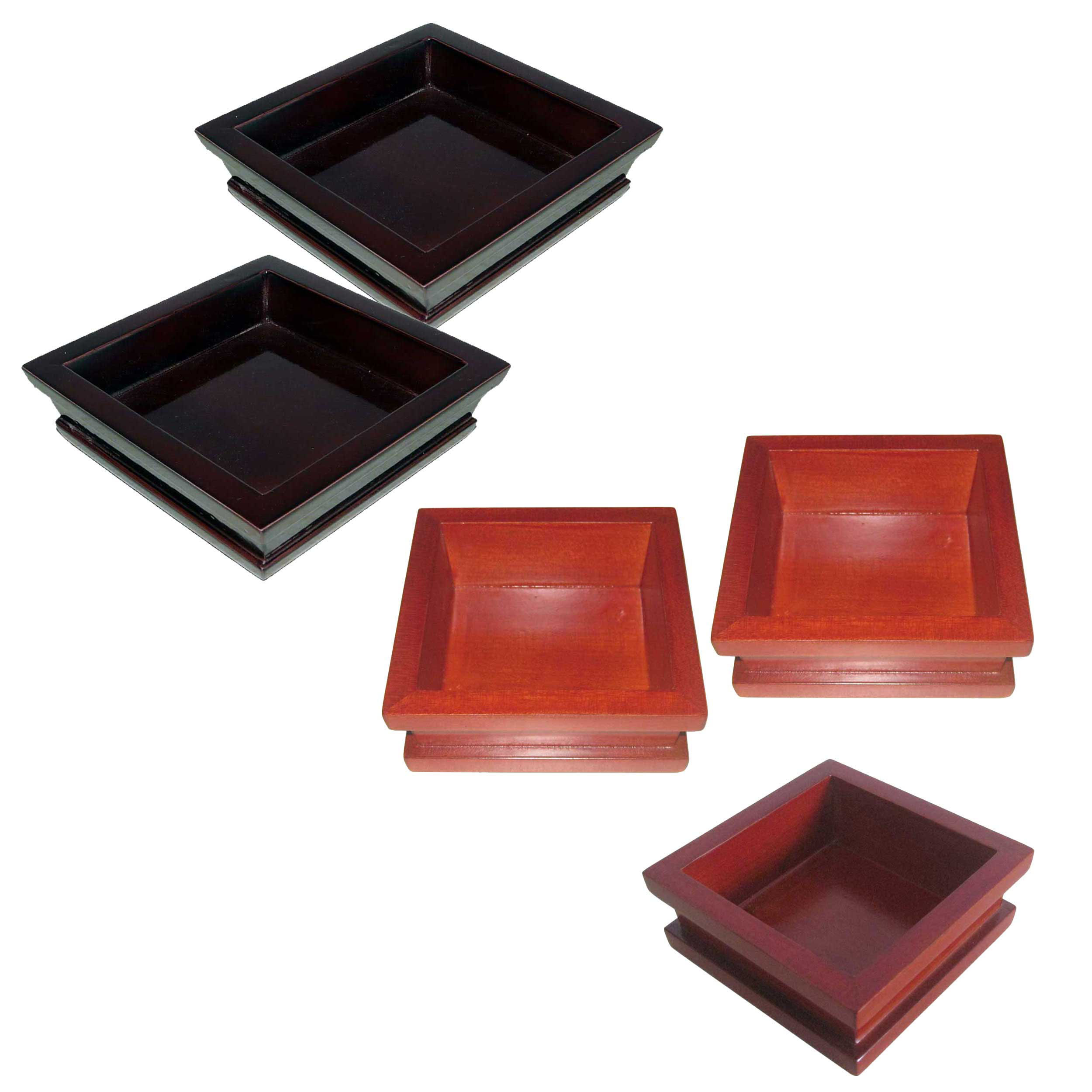 Simple style solid painted wooden hotel supplies shampoo box