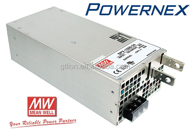 [PowerNex] Mean Well SPV-1500-24 Output Voltage Programmable Power Supply, Enclosed PFC, full range input, build in Parallel