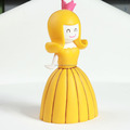 OEM China factory cheaper price make custom large yellow pretty smile princess for girl gifts hot sale