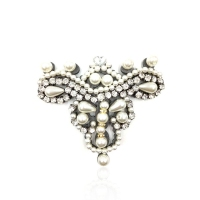 Queena Handmade DIY Pearl Rhinestone Crown