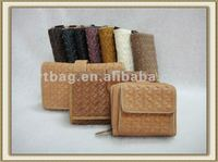Environmental protection knitting leather wallets fashion ladies