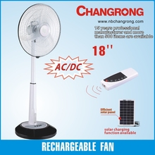 rechargeable led standing fan