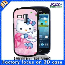 3D hello kitty mobile phone case for samsung galaxy trend duos