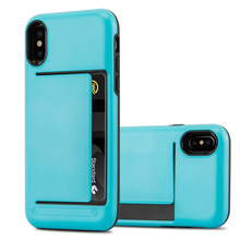 Hybrid Shock Proof Credit Plastic Case For iPhone X Back cover