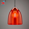 handblown orange cone shape borosilicate glass decorative lamp shade