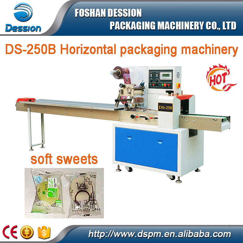 Automatic fudge horizontal flow packing machine , soft candy packing machine
