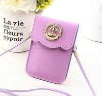 Cell phone shoulder strap bags candy color mobile phone bags and cases