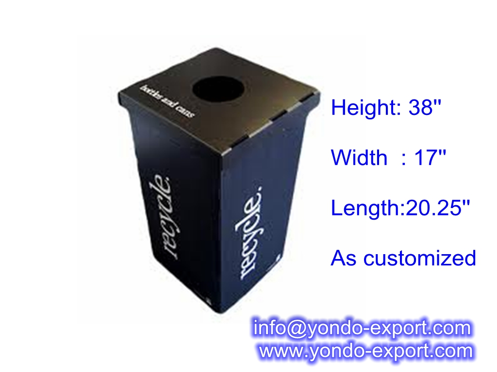corrugated plastic recycle bin ,corrugated plastic office bin,waste bin