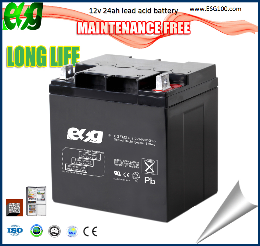 Long Life Rechargeable VRLA 12V 24AH Sealed Lead Acid AGM Battery storage batteries 12v 24ah sealed lead acid battery