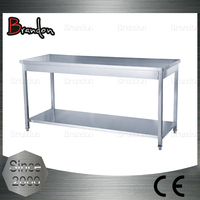 Brandon cost-efficient stainless steel kitchen utility work table
