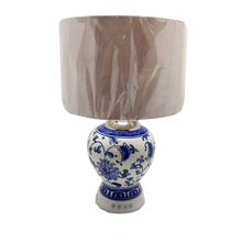Transformer supply Chinese porcelain led light table lamp with Bluetooth rotation