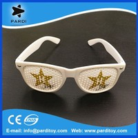 2015 party glasses with eyes custom logo printing party pinhole sunglasses