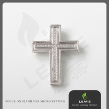 TOP New Fashion Popular Cremation Jewelry 925 Sterling Silver Cross Pendant