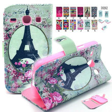 New PU Leather Wallet Card Stand Case Cover For Samsung Galaxy Core i8262 i8260