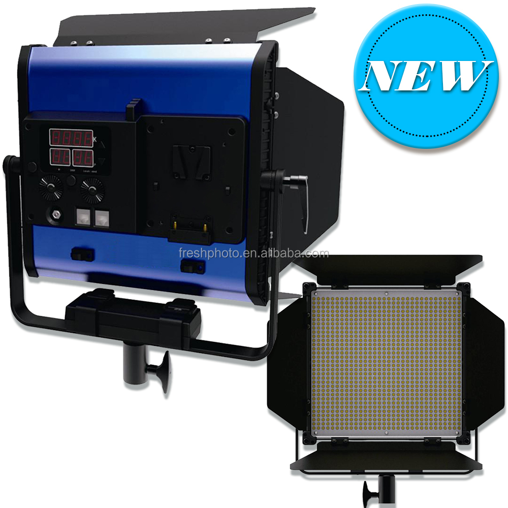 advanced LCD CRI96+ DMX / PWM dimming tech 50W led slim photography light box with barn doors remote control