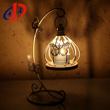 The butterfly pattern eco-friendly iron art home decoration rose bronze candlestick