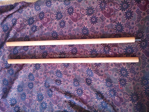 SELF DEFENSE WOODEN BO STAFF / BO WITH METAL SCREW JOINTS / KARATE BO