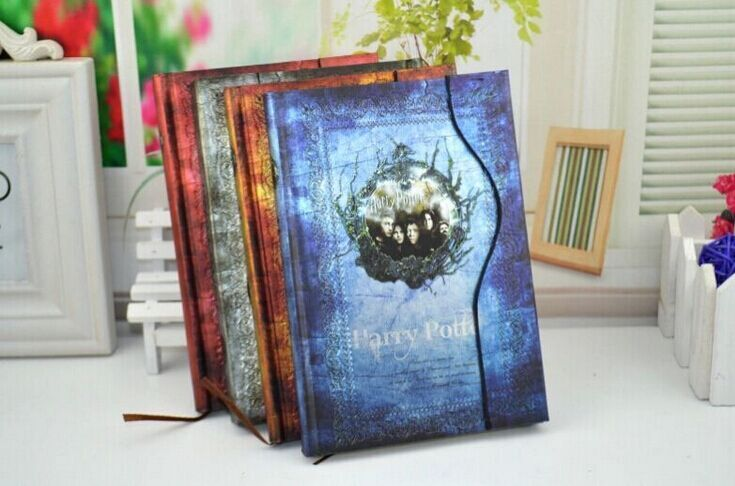 Custom school harry potter hardcover paper spiral notebook, kraft cover paper student diary spiral notebook