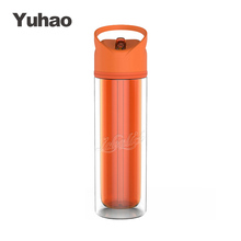 12oz Cheap Double Wall tritan shaker fruit infuser water bottle