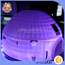 Led lighting giant inflatable party wedding igloo tent / inflatable trade show event tent for sale