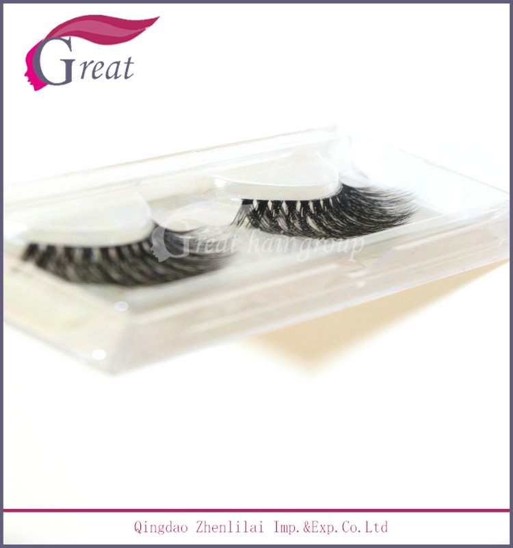Natural False Eyelash 3D Hand-made Private Label Mink Eyelashes 3D Silk Lashes