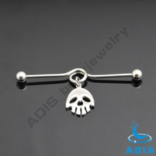 Surgical steel curved fashion ear piercing dangle unqiue industrial barbell