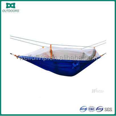 Portable High Strength Nylon Hammock With Mosquito Net