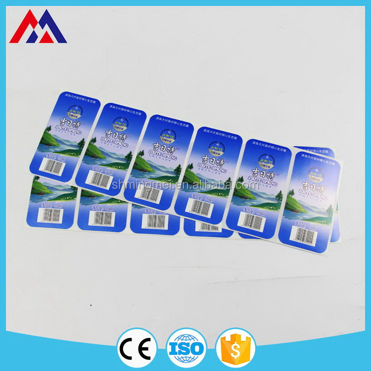 New product Discount water resistant sticker paper design