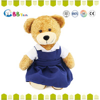 Cute teddy bear 2015 new hot sales dark brown rice white feet bear