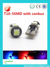 TOP Quality!!! auto led bulb t10 canbus 5smd 5050 with CE,ROHS Approved