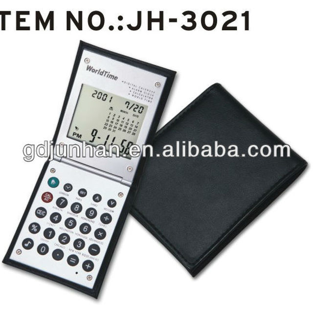 foldable flexible pocket calculator with cover